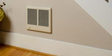 in wall electric heater image