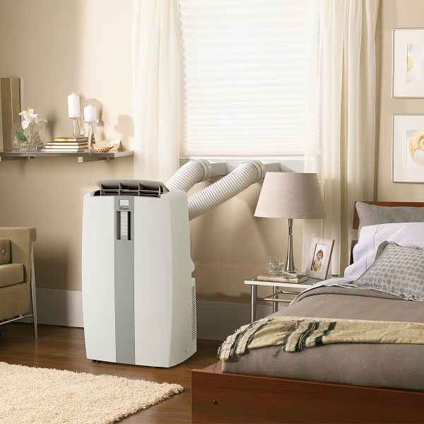 portable air conditioner in a room