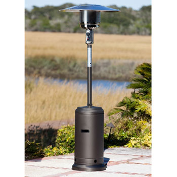 Golden Flame 46,000 BTU [XL-Series] Patio Heater with Wheels