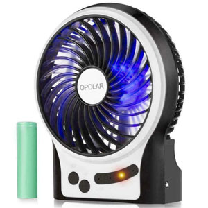 OPOLAR Battery Operated USB Rechargeable Fan