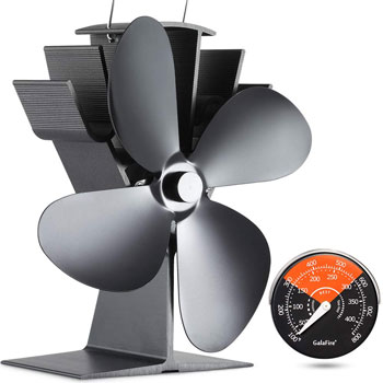 GALAFIRE Start Silent Heat Powered Wood Stove Fan