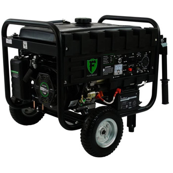 Fortress Hybrid 4,400 Watt Dual Fuel Generator with Wheel Kit and Electric Start