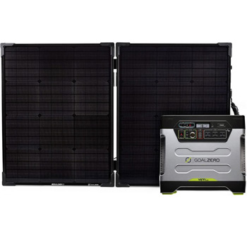 Goal Zero Yeti 1250 Solar Generator Kit with Boulder 100 Briefcase