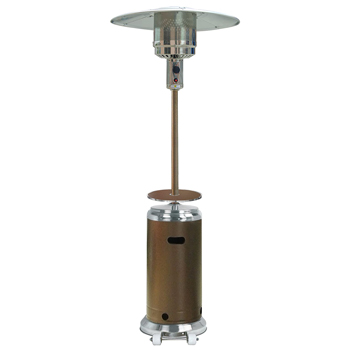 Hiland HLDS01-SSHGT Patio Heater with Wheels and Table